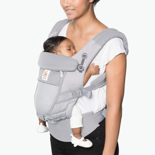 Ergobaby Adapt Ergonomic Multi Position Baby Carrier with Cool Air Mesh 7 45 Pounds Pearl Grey