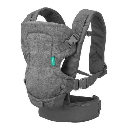 Infantino Flip Advanced 4 in 1 Carrier Ergonomic convertible face in and face out front and back carry for newborns and older babies 8-32 lbs